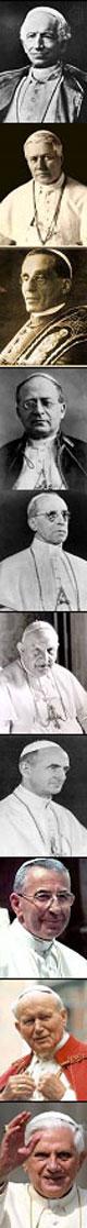 Päpste des 20. / 21. Jahrhundert
