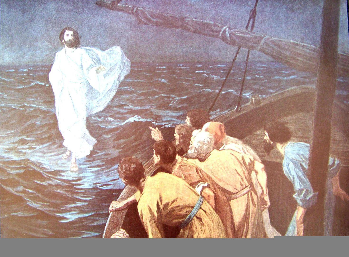 Jesus über Wasser